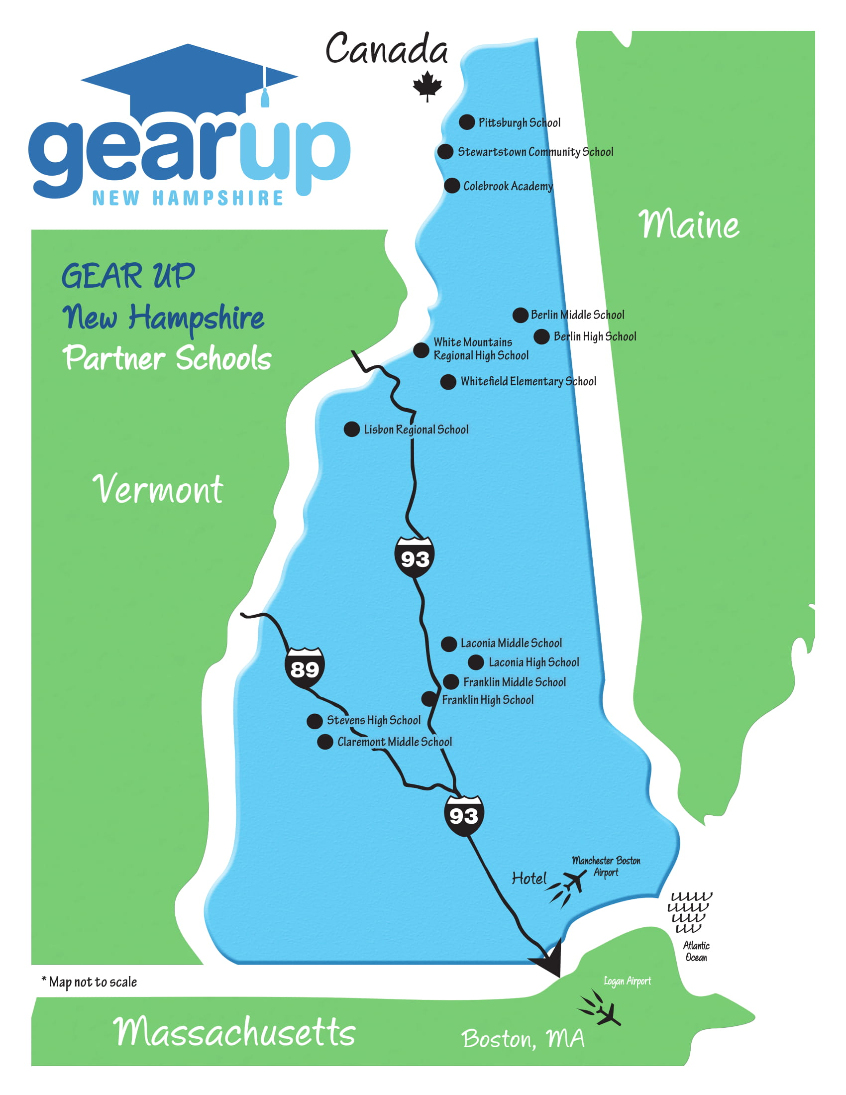GEAR UP Cohort Schools Map